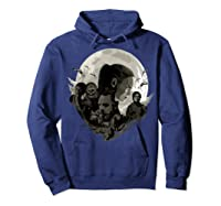 Star Wars Last Jedi Rebels Moon Silhouette Graphic T-shirt Hoodie Navy