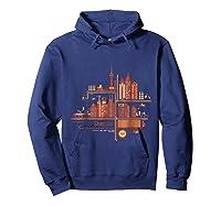 Shanghai Building S T Shirt Design Hoodie Navy