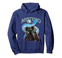 Spider Man Far From Home Mysterio Stance Shirts Hoodie Navy