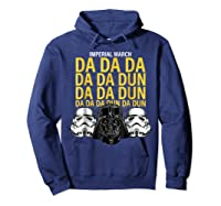 S Darth Vader Imperial March Graphic Shirts Hoodie Navy