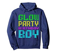 Glow Party Birthday Boy Party Gift Neon Retro Shirts Hoodie Navy