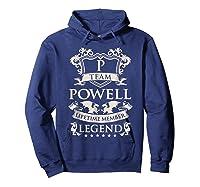 Team Powell Last Name Gifts Vintage Legend Family Tshirt Hoodie Navy