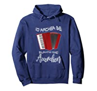 I'd Rather Be Playing The Accordion Music Keyboard T Shirt Hoodie Navy