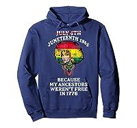 Ancestors Black African American Flag T Shirt Hoodie Navy