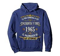 Birthday T Shirt Gift For Latino Born In 1965 Hoodie Navy