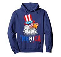 'merica Bald Eagle Sunglasses Flag Uncle Sam 4th Of July Shirts Hoodie Navy
