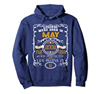 May 2008 11th Birthday Gift 11 Years Old For Shirts Hoodie Navy