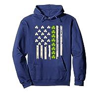 St Patricks Day Irish American Flag Saint Paddys Day T Shirt Hoodie Navy