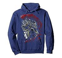 Roman Skull Praetorian Warrior Shirts Hoodie Navy