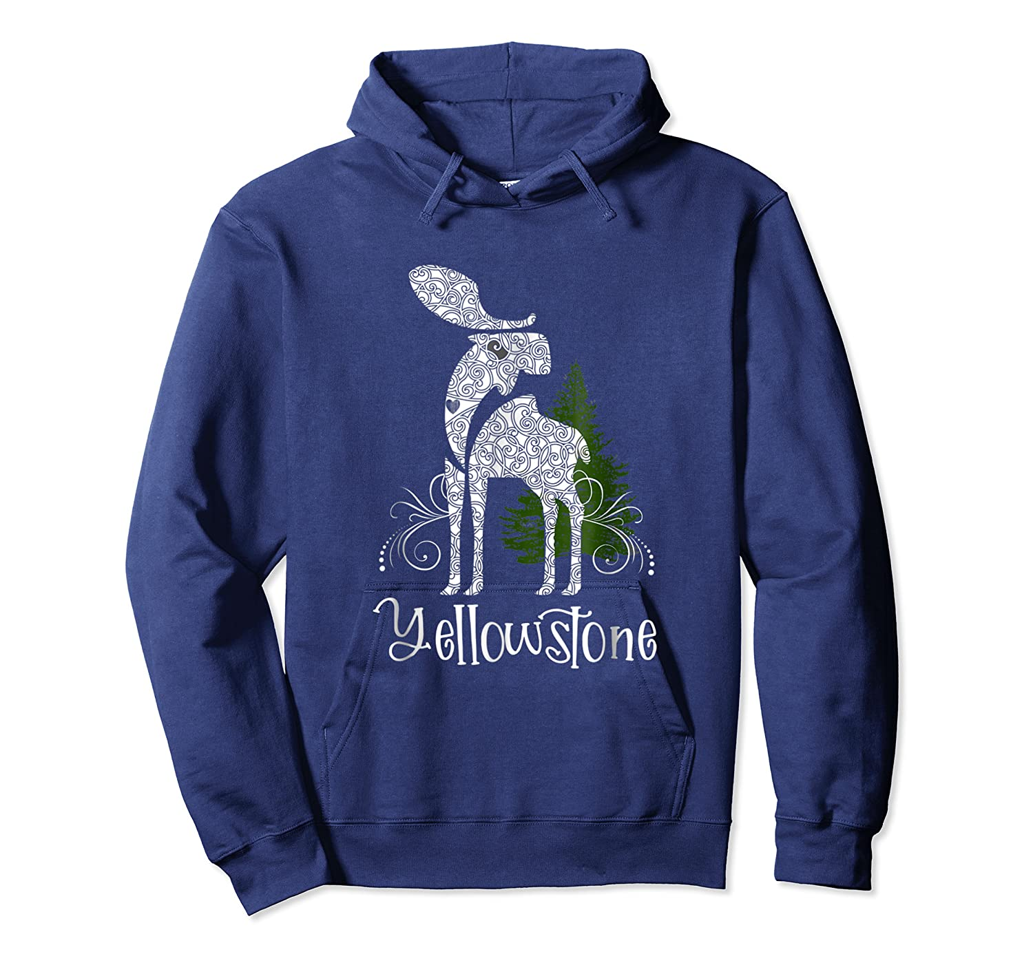 Yellowstone National Park Moose Shirts Unisex Pullover Hoodie