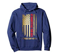 My Daughter Has Your Back. Proud Army Mom T-shirt Hoodie Navy