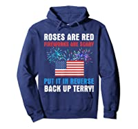 Put It In Reverse Back Up Terry Fireworks 4th Of July Shirts Hoodie Navy