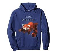 Red Panda Cute Lazy Animal To Do List Shirts Hoodie Navy