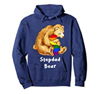 Stepdad Bear Proud Dad Lgbt Gay Pride Lgbt Dad Gifts Shirts Hoodie Navy