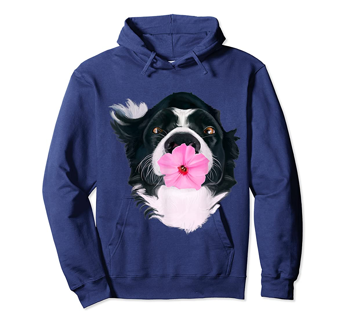 Border Collie Sweet Dog T-Shirt Dogs Tee Shirt Gifts-Hoodie-Navy