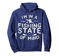 Michigan I'm In A Fishing State Of Mind Vacation Shirts Hoodie Navy