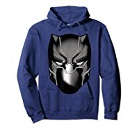 Black Panther Mask Shirts Hoodie Navy