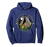 Adventure Seeker T Shirt Camping Outdoor Travel Hoodie Navy