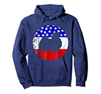 American Flag Japanese Chin Japanese Chin Dog Shirts Hoodie Navy