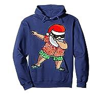 Dabbing Santa Christmas In July Hawaiian Shirt Gift Hoodie Navy