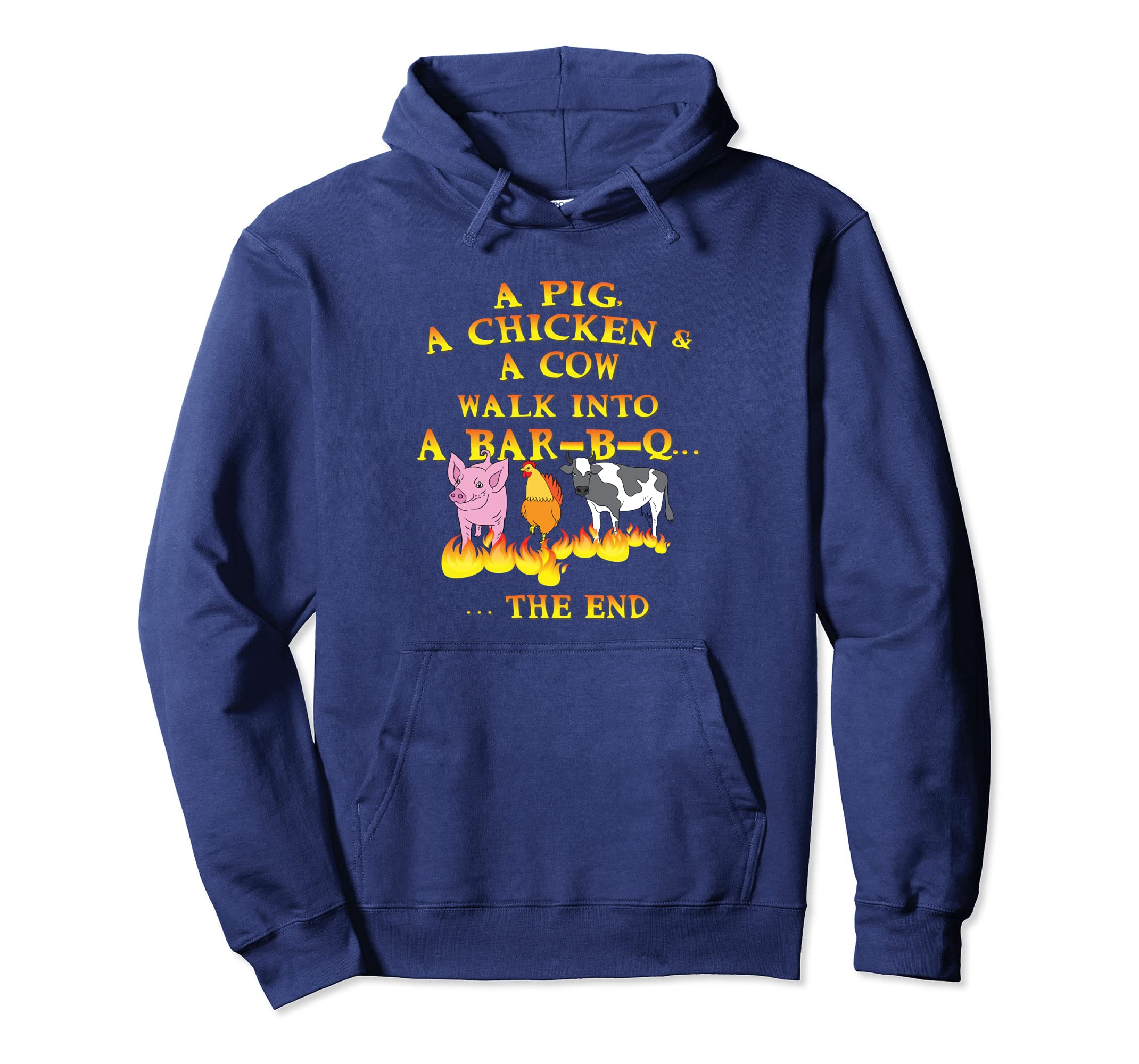 A Pig A Chicken A Cow Walk into a Barbecue BBQ Hoodie Gift