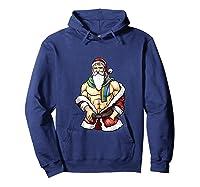 Gay Pride Month Santa Lgbtqqiaap Christmas Rainbow Holiday Shirts Hoodie Navy