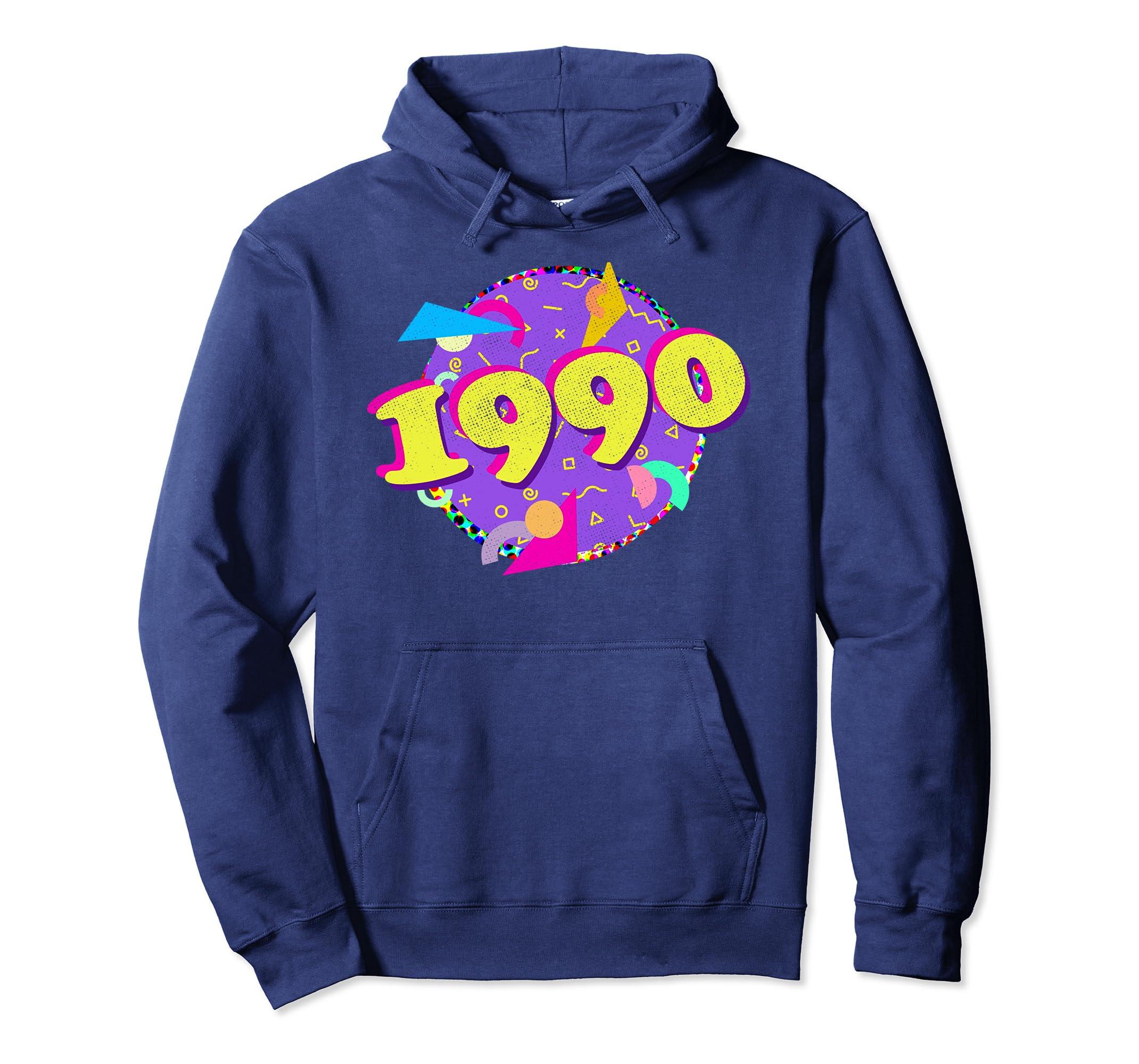 1990 Hoodie 28th Birthday Shirt Retro 90s Style