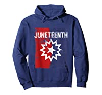 Junenth Black American African History Freedom Day Shirts Hoodie Navy
