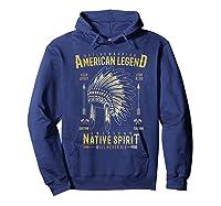 Native American Warrior, Indian Native Spirit Shirts Hoodie Navy