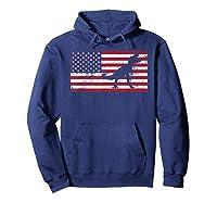 T Rex T Shirt American Flag Girls 4th Of July Dinosaur Hoodie Navy