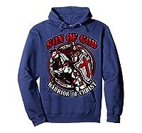 Knights Templar Tshirt Son Of God Warrior Of Christ Hoodie Navy