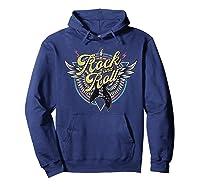 Rock Roll Guitar Wings School Of Rock Music Shirts Hoodie Navy