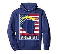 Resist Protest Rebel Political Anti Trump Impeach T Shirt Hoodie Navy
