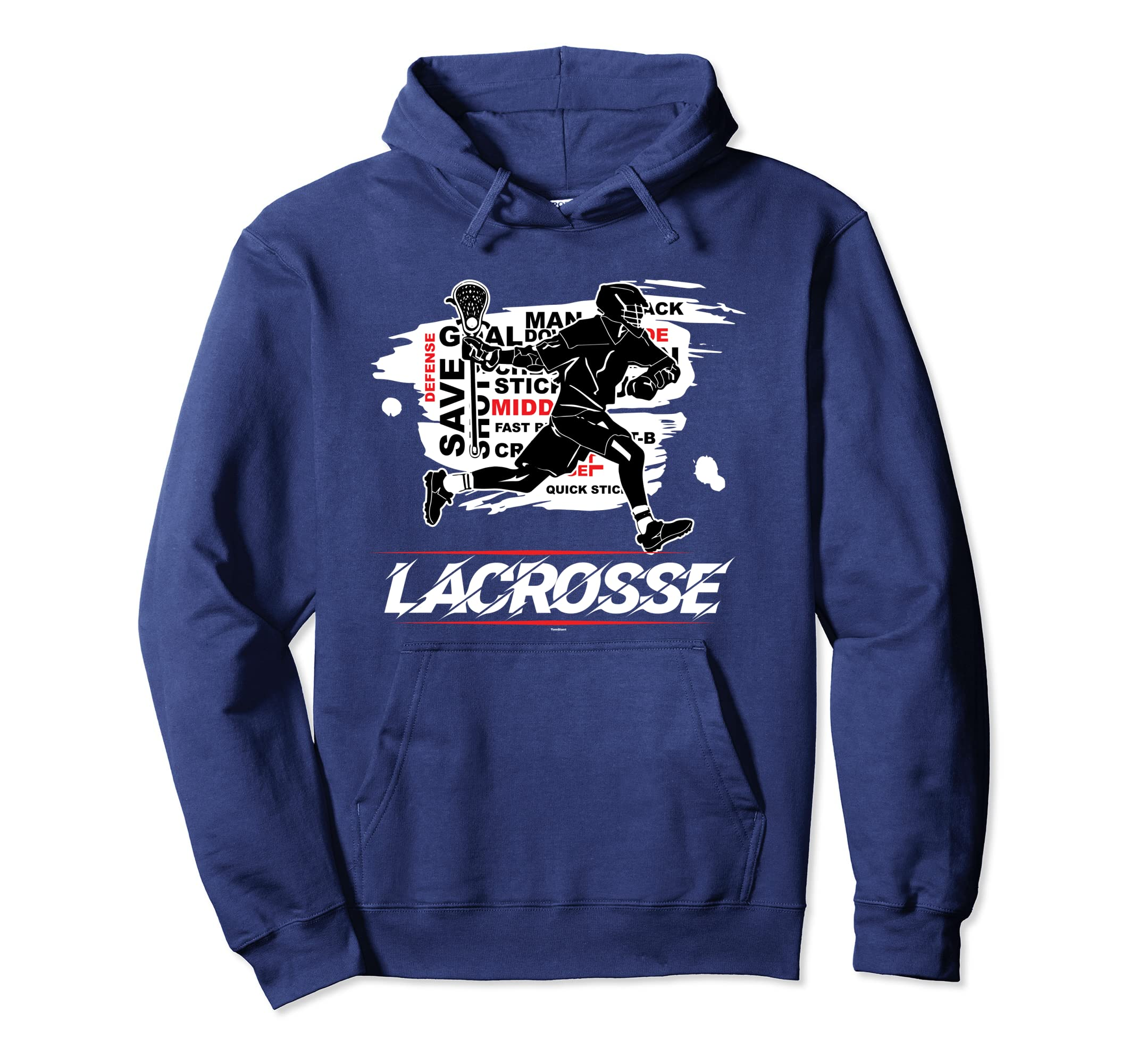b9c4dab5 ... Awesome Lacrosse Lax Sticks Red Black White Hoodie Pullover-Bawle ...