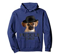Puggle Dad Funny Father's Day Dog Lovers Gift Shirts Hoodie Navy