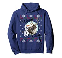 Frozen Olaf Sven Warm Wishes Ugly Sweater Shirts Hoodie Navy
