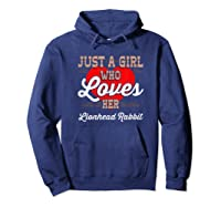 Just A Girl Who Loves Her Lionhead Rabbit Shirt For  Hoodie Navy