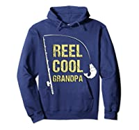 Reel Cool Dad Funny Fishing Fathers Day Gift Shirts Hoodie Navy
