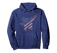 F22 Raptor Airplane Art 4th Of July Flag Patriotic T-shirt Hoodie Navy