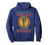 Karaoke Music Gifts Sing Music Bar Singer Vegas Style Mic Shirts Hoodie Navy