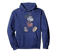Disney Mickey Mouse Walk T Shirt Hoodie Navy