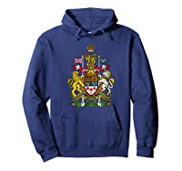 Canada Coat Of Arms Flag Souvenir Ottawa Shirts Hoodie Navy