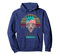Funny Fathers Day Best Dad Ever Gorilla 4th Of July Premium T-shirt Hoodie Navy