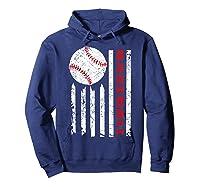 American Flag Baseball | July 4th Usa Flag Patriotic Design T-shirt Hoodie Navy