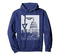 Vintage Washington Dc District Of Columbia T Shirt Hoodie Navy