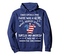 Once Upon A Time Turtle America 4th Of July T Shirt Gifts Hoodie Navy