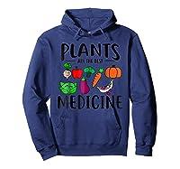 Plants Are Best Medicine, Vegan, Vegetarian Shirts Hoodie Navy