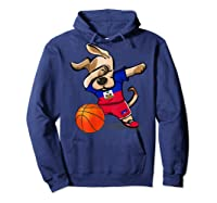 Dog Dabbing Haiti Basketball Haitian Sport Team Shirts Hoodie Navy