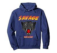 Savage T Shirt Wild Black Panther Focused Hoodie Navy