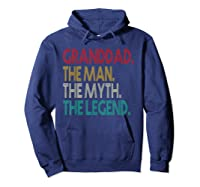 Granddad The Man The Myth The Legend Gift For Grandd Shirts Hoodie Navy